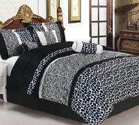 Amazon.com - 7 Piece Safari - Zebra - Giraffe Print Bed-In ...