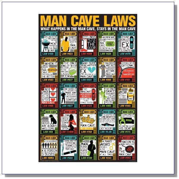 NMR/Aquarius Man Cave Laws Poster