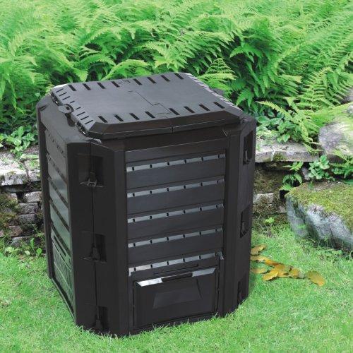 Komposter, Thermokomposter - Fassungsvermögen 380 Liter (Schwarz) Unbekannt