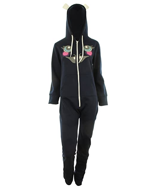 GG Womens Kirnea Unisex Easter Bunny Hooded Jumpsuit Onesie - Navy 6