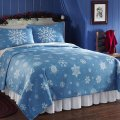 Collections etc snowflake fleece coverlet blanket full queen