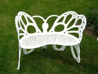 Amazon.com : Flower House FHBFB06W Butterfly Bench, White ...