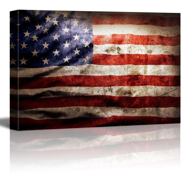 American Flag Canvas Wall Art