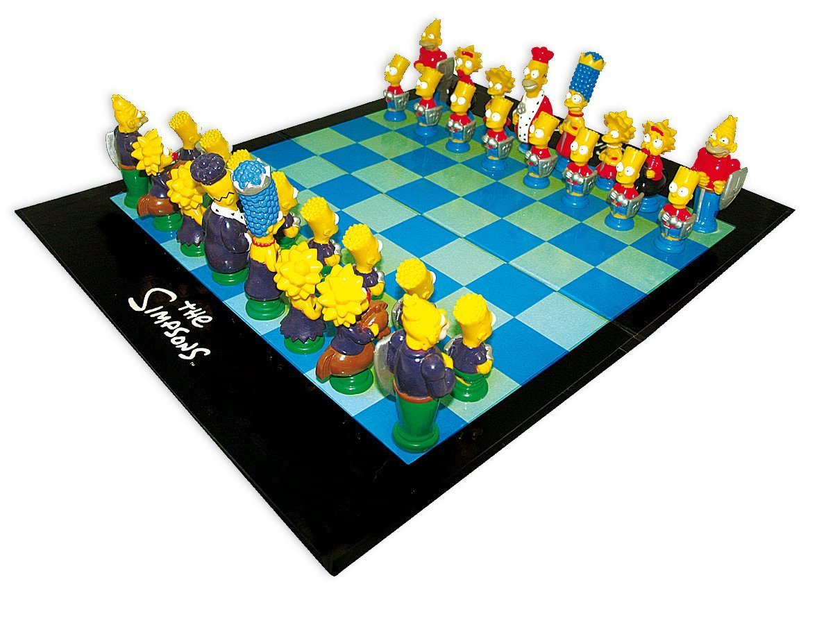 Simpsons 3-D Chess Set