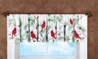Cardinal Christmas Window Valances | Christmas Wikii