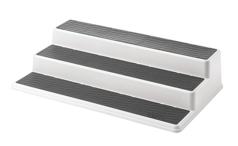 two tier kitchen drawer organizer hgtv makeover copco non skid slip 3 shelf cabinet storage