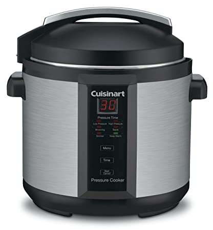 Cuisinart CPC-600AMZ 1000-Watt 6-Quart Electric Pressure Cooker, Brushed Stainless and Matte Black