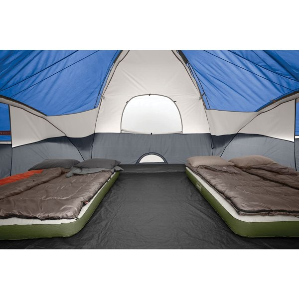 Family Camping Tent 8-person Red Canyon Blue Coleman Outdoors Room Dividers 76501008241