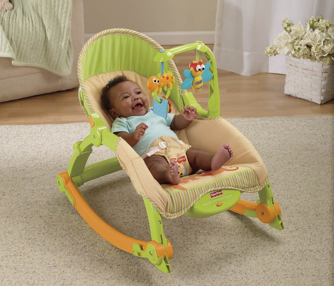 Toddler Rocker Chair Baby Bouncer Seat Chair Swing Vibration Cradle Rocking