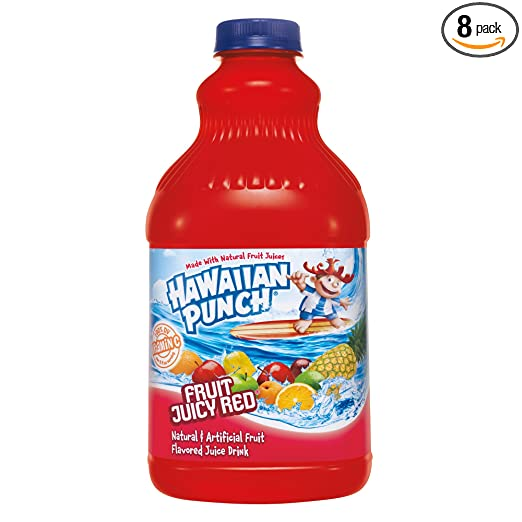 Hawaiian Punch Fruit Juicy Red, 64 fl oz bottles (Pack of 8)