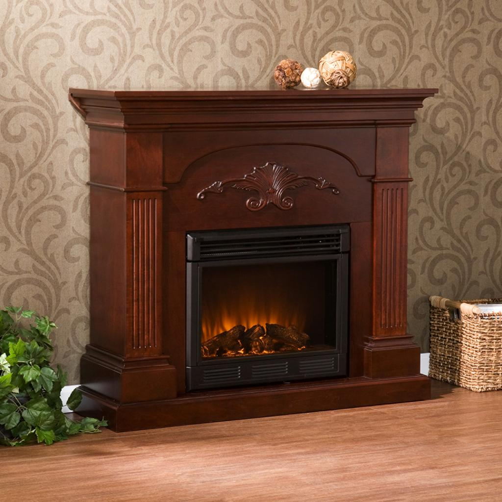 Amazoncom  SEI Sicilian Harvest Electric Fireplace Mahogany  Gel Fuel Fireplaces