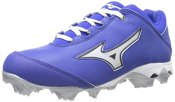 Mizuno Women's Finch Elite Switch Softball Cleat,Royal/White,5 M US