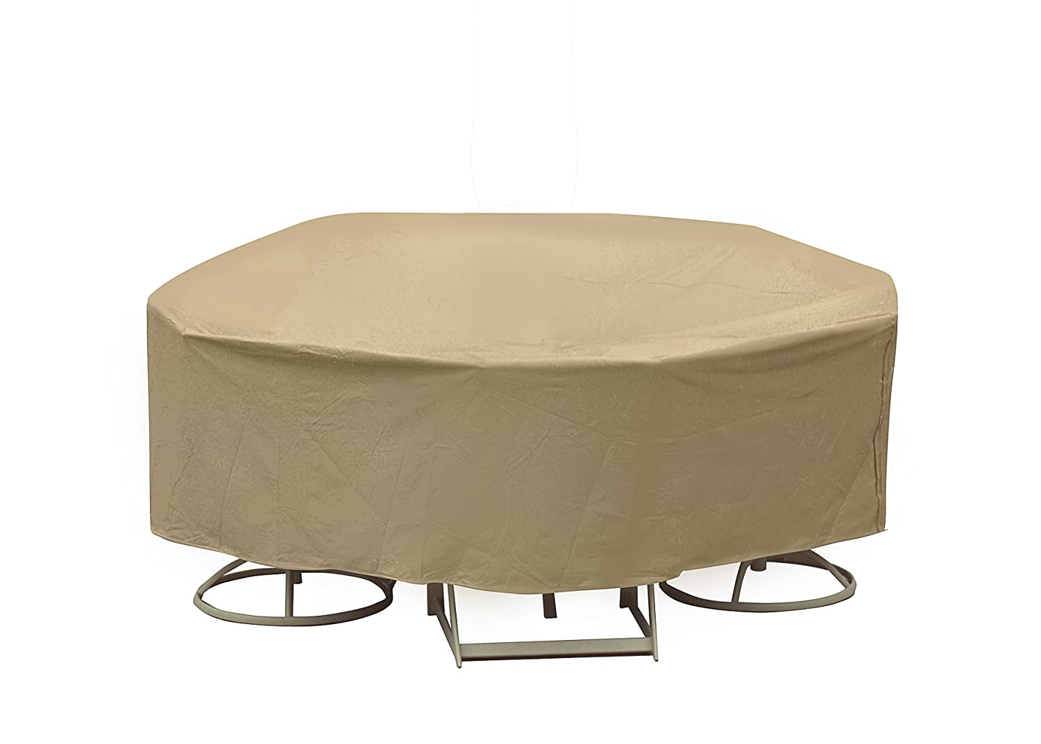 amazon round chair covers navana revolving price in bangladesh weatherproof 60 quot patio table cover outdoor set
