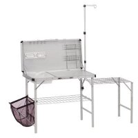 Folding Kitchen Table Portable Camping Tailgate Sink ...