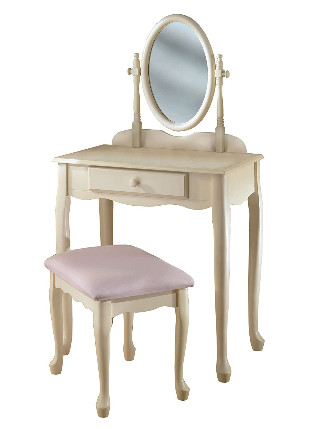 vanity with chair and mirror hill white make up table sets stool