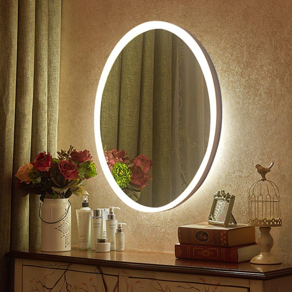 LED Wall Mirrors 167x275 Inch Oval Mirror NANAMI