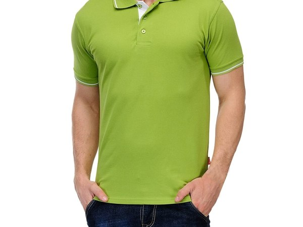 Scott Men's Premium Cotton Polo T-shirt - Apple Green