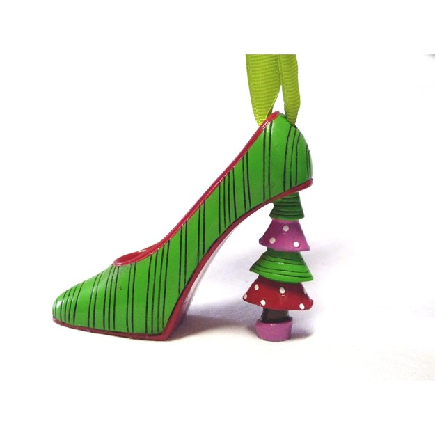 Christmas Tree Heel Christmas Ornament