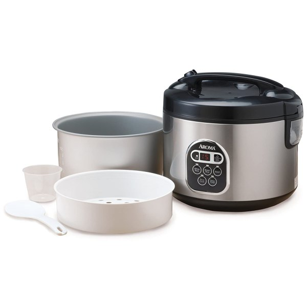 Aroma Arc-150sb 10-cup Uncooked 20-cup Cooked Digital Rice Cooker