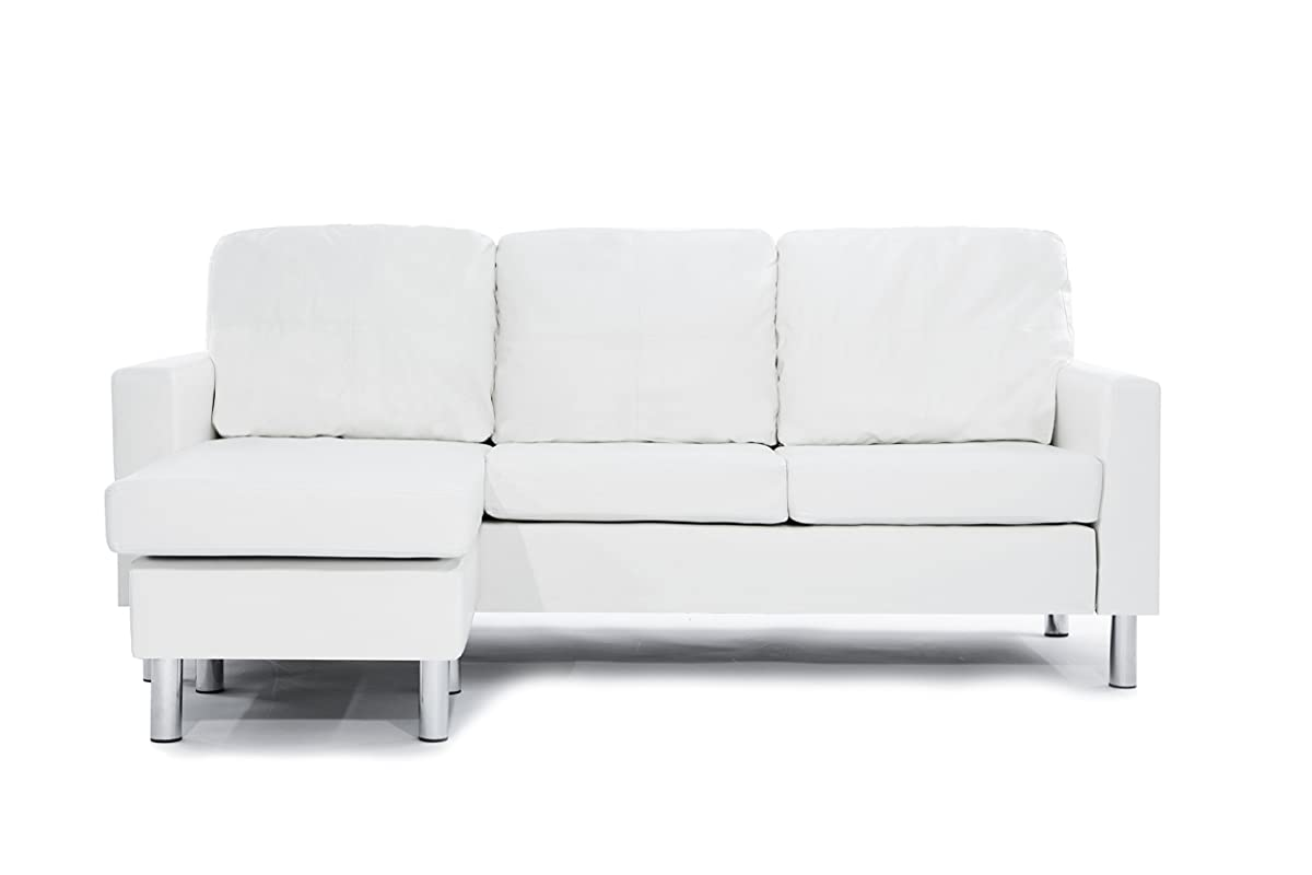 t35 mini modern white leather sectional sofa click clack beds perth bonded small space