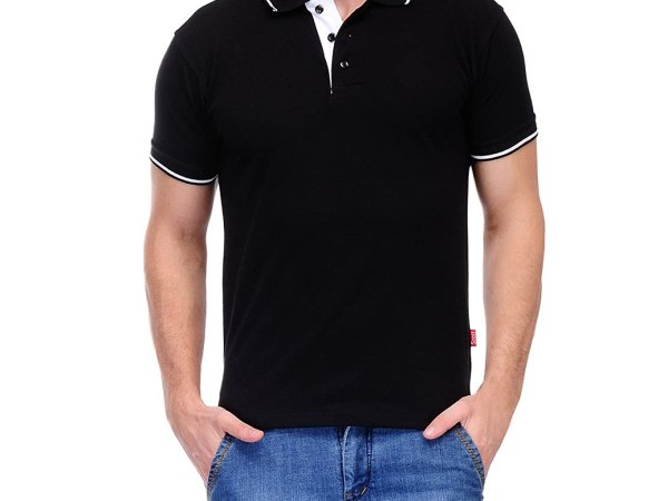Scott Men's Premium Cotton Polo T-shirt - Black