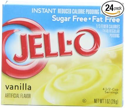Jello Sugar Free Vanilla Instant Pudding Mix