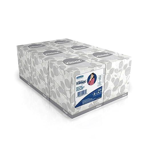 Kleenex Facial Tissue Cube (21271), Upright Face Tissue Box, 6 Bundles / Case, 6 Boxes / Bundle, 36 Boxes / Case