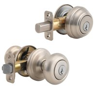 Front Door Round Knob Lock Nickel Security Exterior ...
