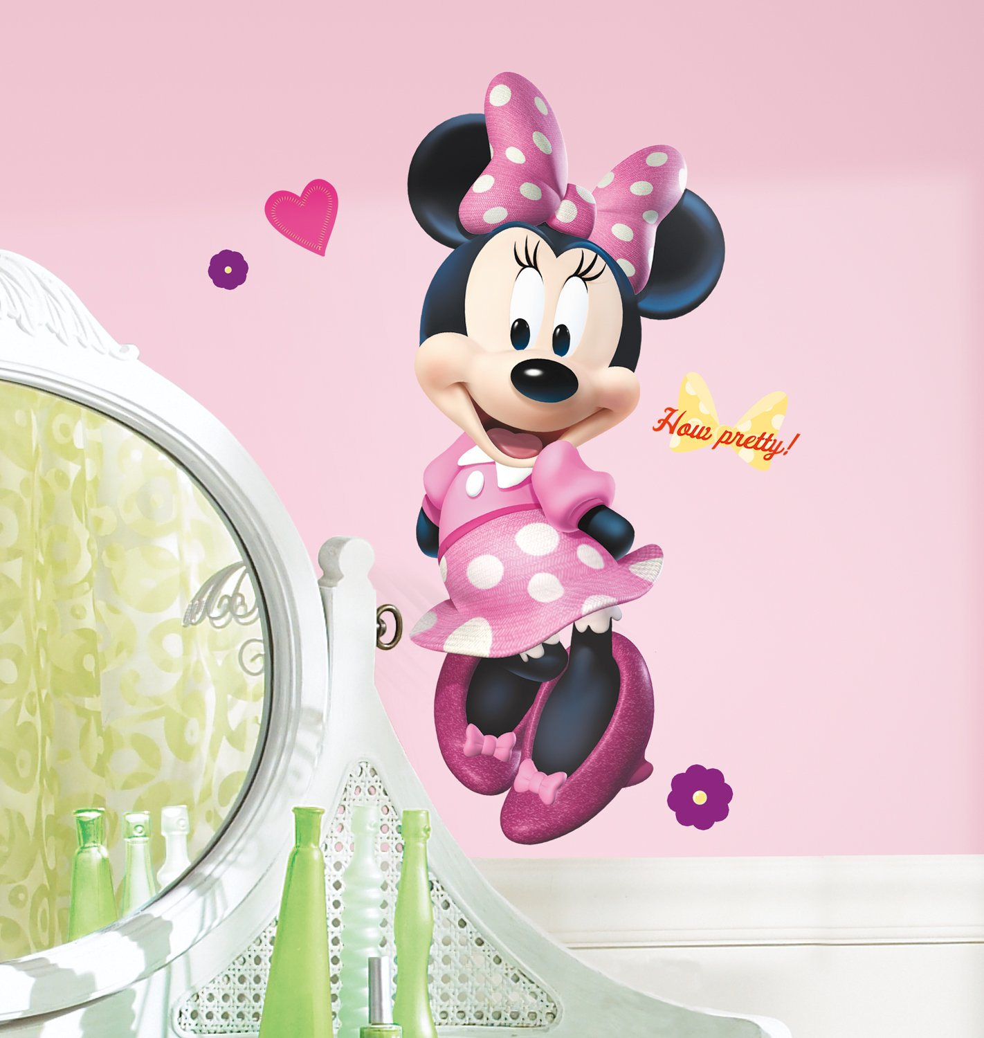 Mickey and Friends Minnie Bow-tique Peel and Stick Giant Wall Decal