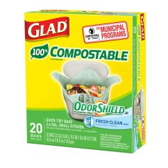 Glad Kitchen Trash Bags Extra Deep Sink Odorshield Small Compostable 2 6