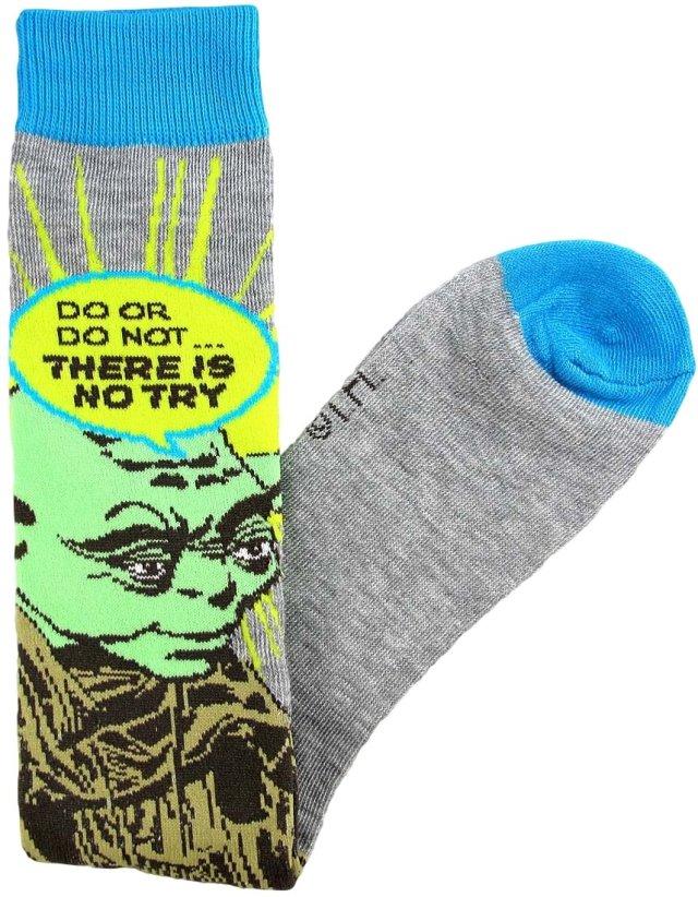Yoda Do Or Do Not... Junior/Women's Socks Shoe Size 4-10 Grey