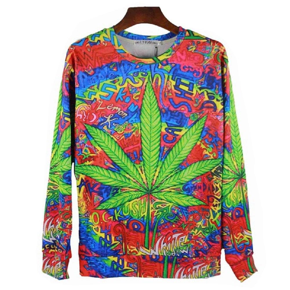 Multi-Color Graffiti Weed Print T-shirt