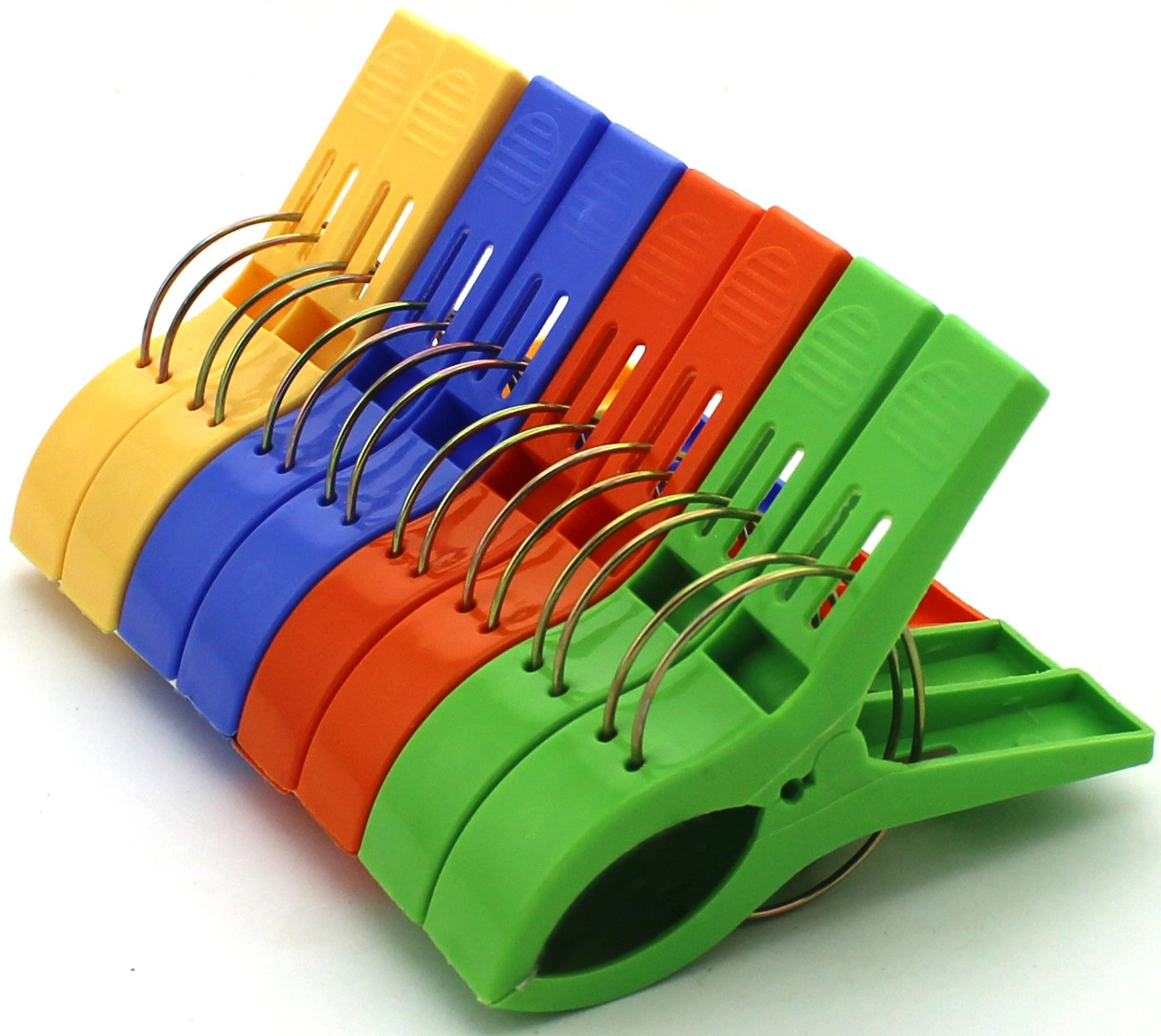 chair clips for beach towels office chairs max weight 150kg zicome set of 8 bath towel in 4 fun bright