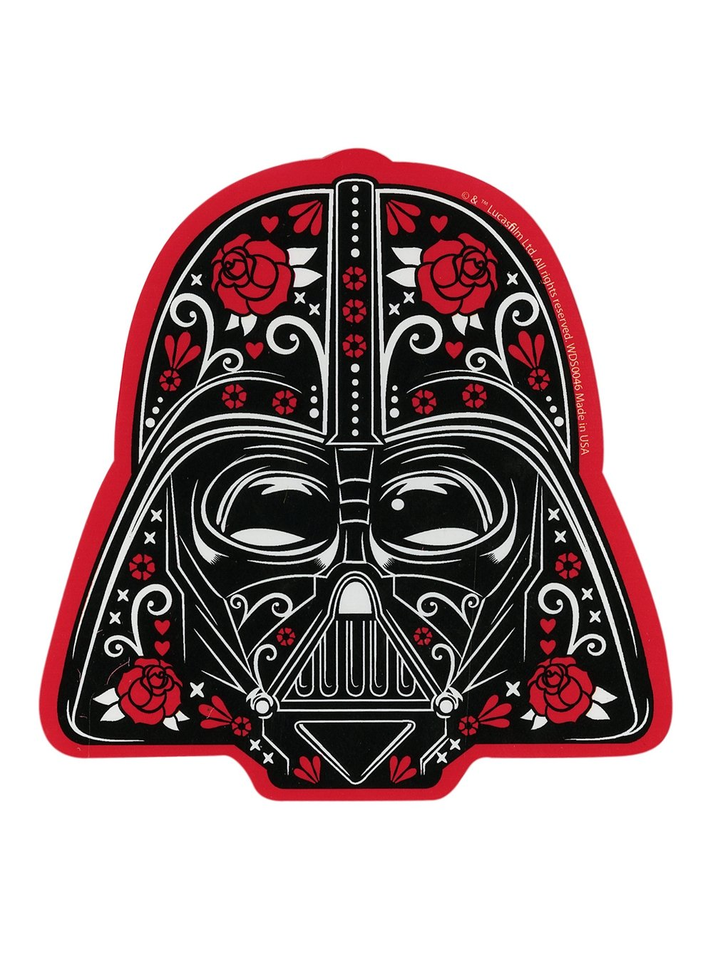 Darth Vader Sugar Skull Sticker