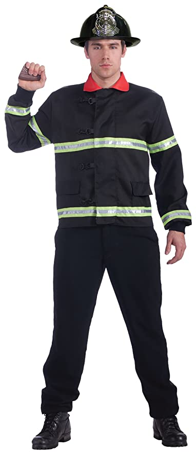 Forum Novelties Men's Men with Power Fireman Coat Costume, Multi, One Size