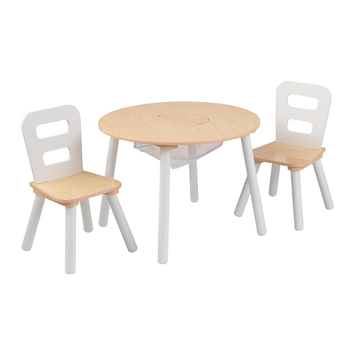 kidkraft white table and chairs keter high chair round 2 set natural