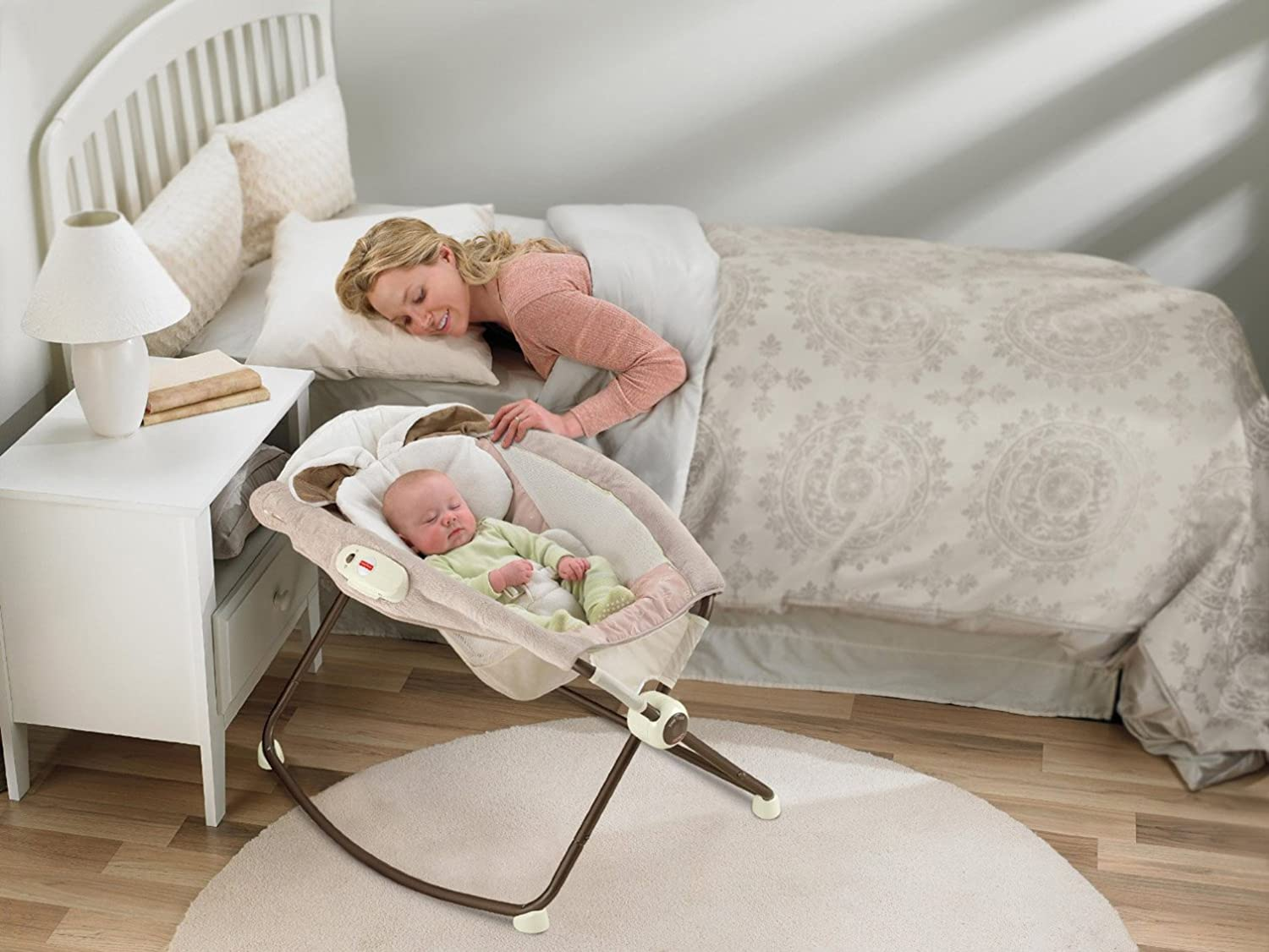 baby chair that vibrates white barcelona newborn bassinet rocking vibrating incline crib nap