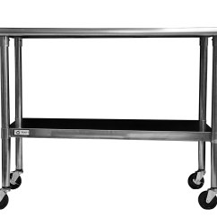 Kitchen Cart Stainless Steel Remodeling Projects Table Rolling Prep Island