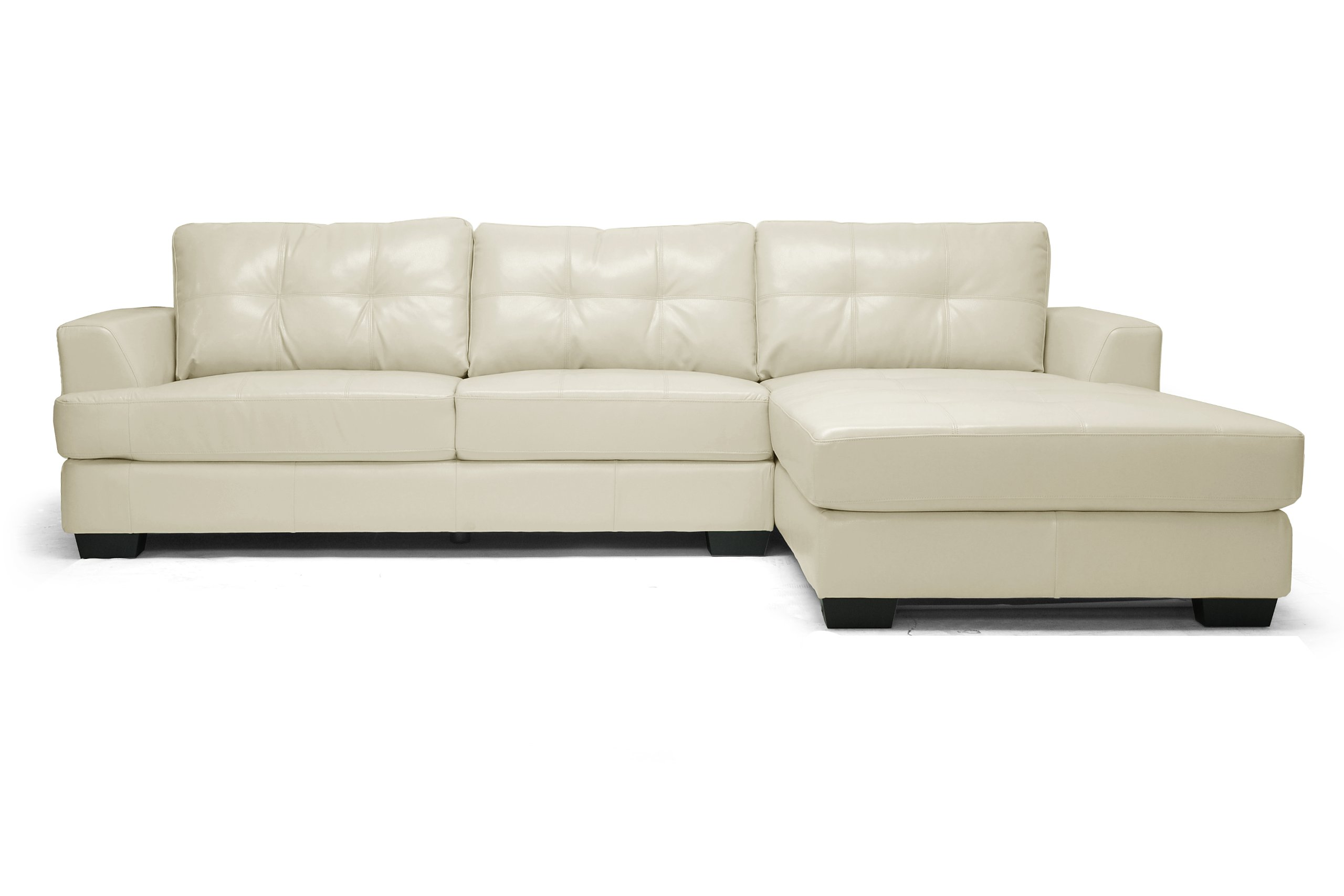 cream full leather chaise sectional sofa darcy and recliner baxton studio dobson modern