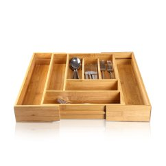 Kitchen Utensil Drawer Organizer Best Rugs For Adeco Natural Bamboo Expandable
