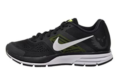 nike air pegasus+ 30 mens running trainers 599205 sneakers shoes (uk 9.5 us 10.5 eu 44.5, black metallic silver volt 070)