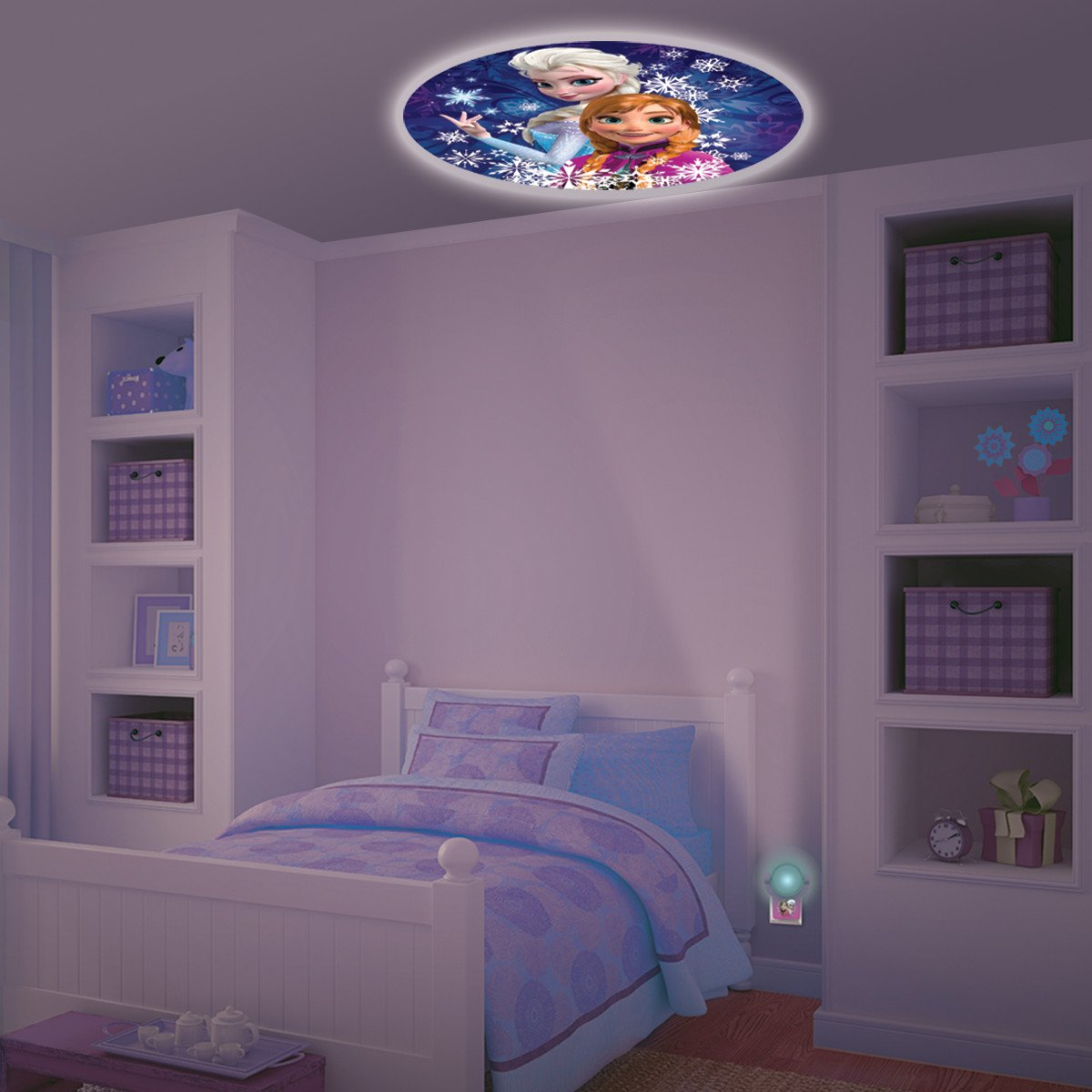 Home Kids Bedroom Disney Frozen Projectable Led Plugin