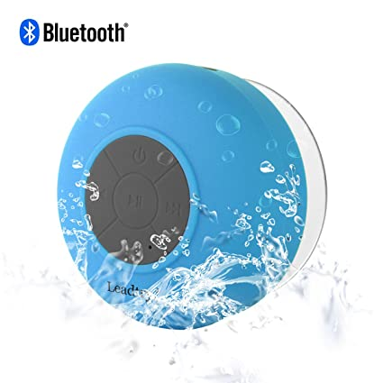 LeadTry Wireless Waterproof Bluetooth Shower 3.0 Speaker (Blue)