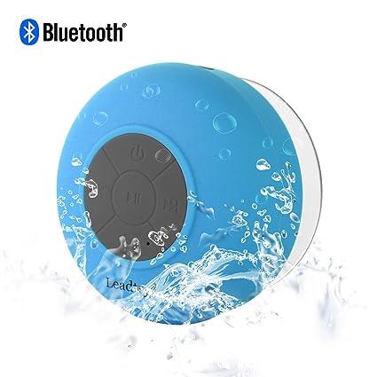 LeadTry Wireless Waterproof Bluetooth Shower 3.0 Speaker (Blue)