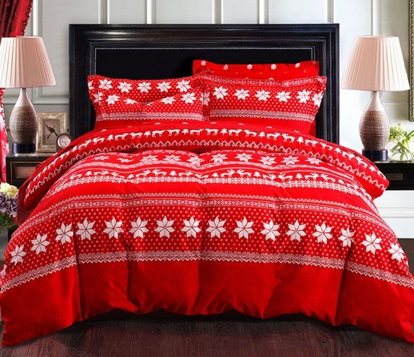Red Bedding Sets Ease With Style