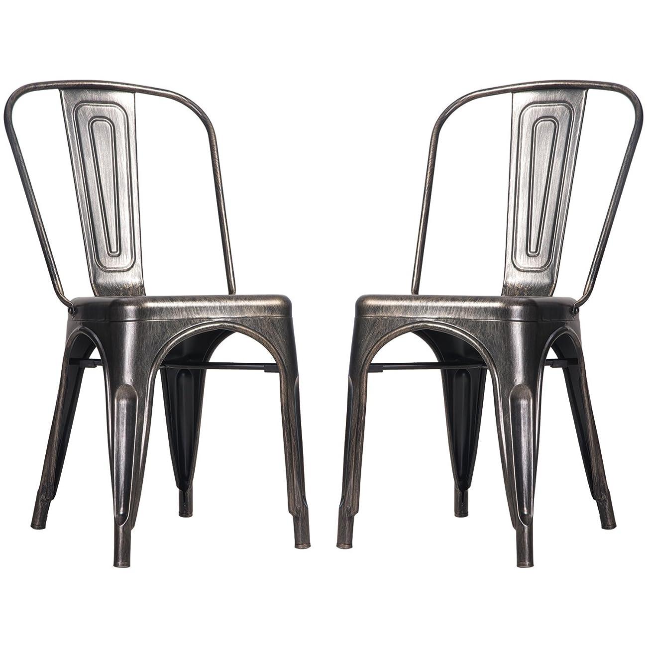 high back metal dining chairs trendy chair merax steel stackable vintage