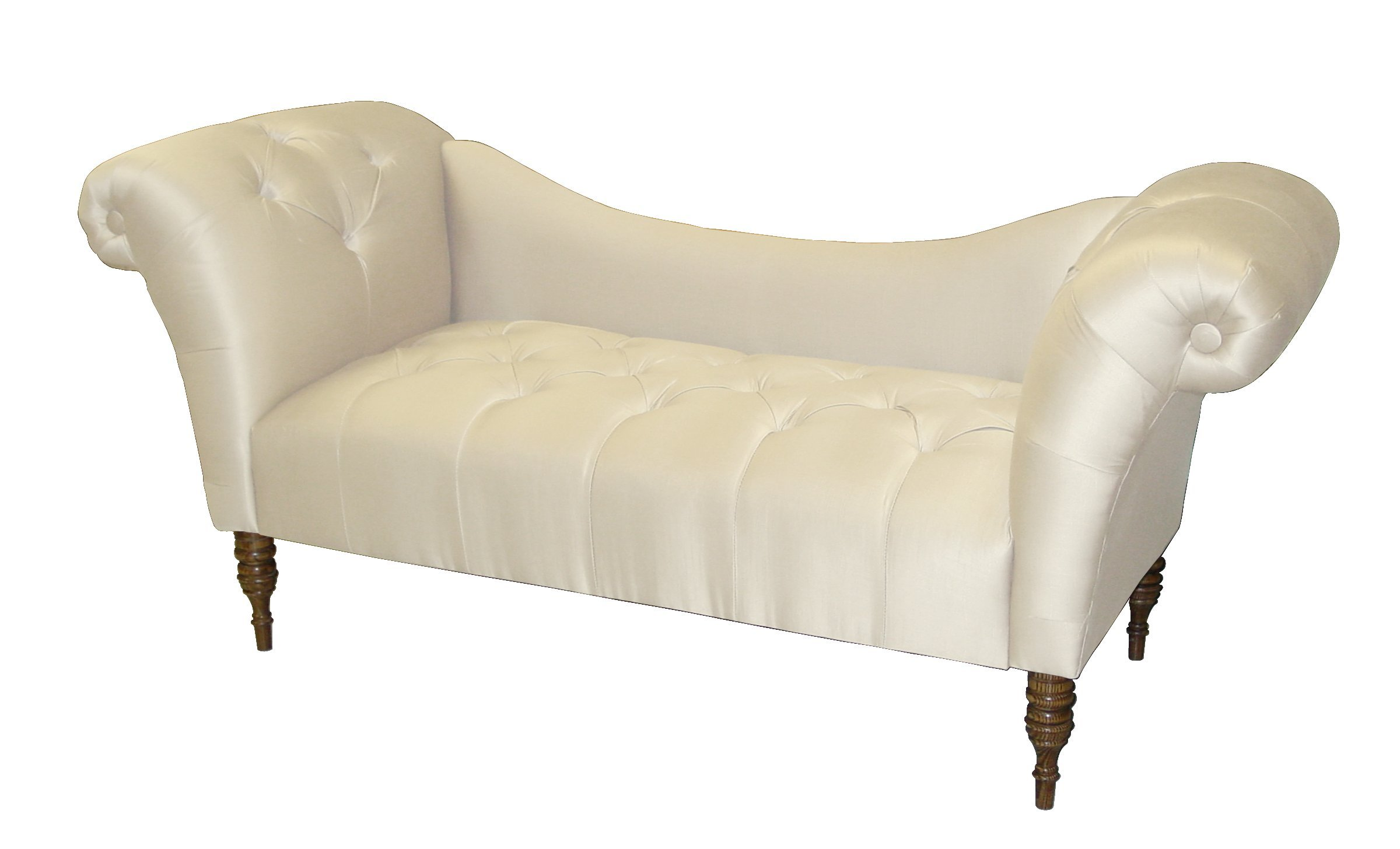 tufted chaise lounge chair dining covers amazon roslyn double arm by skyline