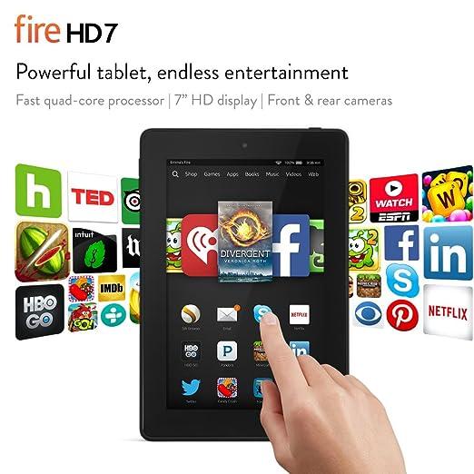 "Fire HD 7, 7"" HD Display, Wi-Fi, 8 GB - Includes Special Offers, Black"