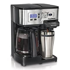 Hamilton Beach Single Serve Coffee Brewer and Full Pot Coffee Maker, FlexBrew – 49983A