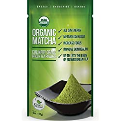 Matcha Green Tea Powder - Powerful Antioxidant Japanese Organic Culinary Grade - 113 grams (4 oz)
